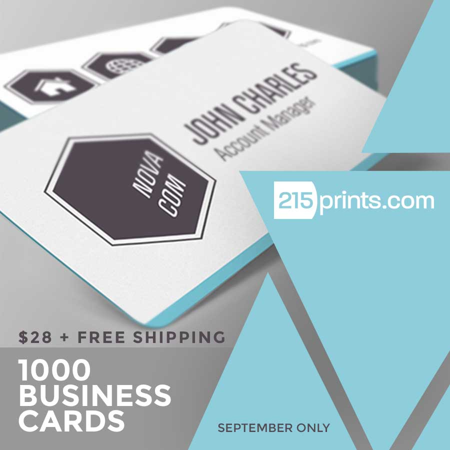 Business Cards Discount at 215prints.com - September Only