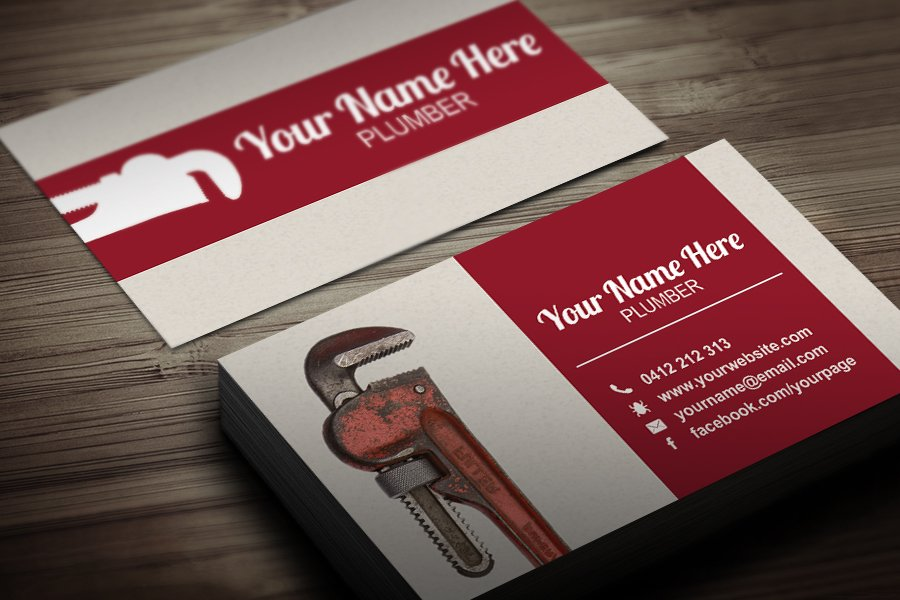 Free Plumbers Business Card Template
